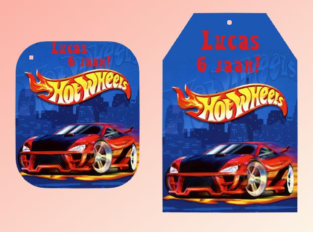 New 123 Traktaties | Label Hotwheels @OL33